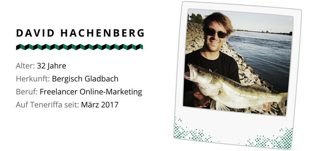 David von Zanderfang arbeitet als Freelancer auf Teneriffa