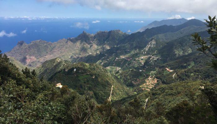 Ausblick auf das Teno-Gebirge auf Teneriffa
