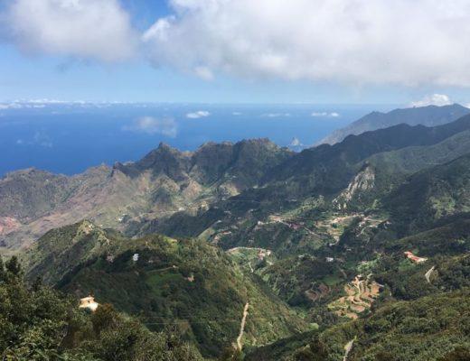 Ausblick auf das imposante Anaga-Gebirge auf Teneriffa