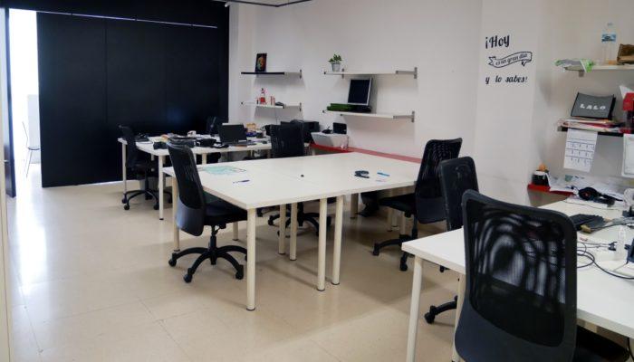 Die Arbeitsplätze im Coworking Nomad in Santa Cruz de Tenerife.