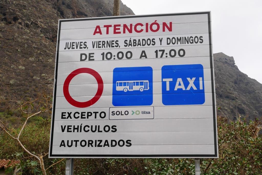 Die Straße zum Faro de Teno auf Teneriffa ist an manchen Tagen gesperrt