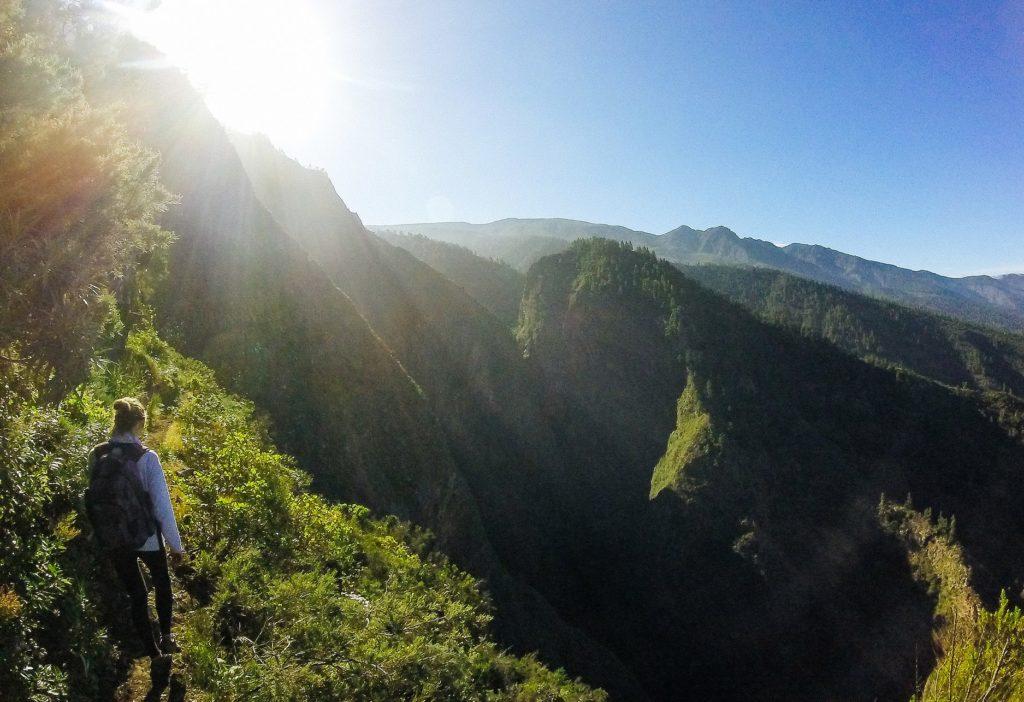 Wandern auf eigene Fast auf der kanarischen Insel Teneriffa