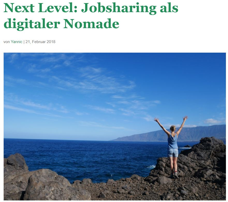 Eva von AufderSonnenseite.de im Interview im Jobsharing Hub Berlin Blog
