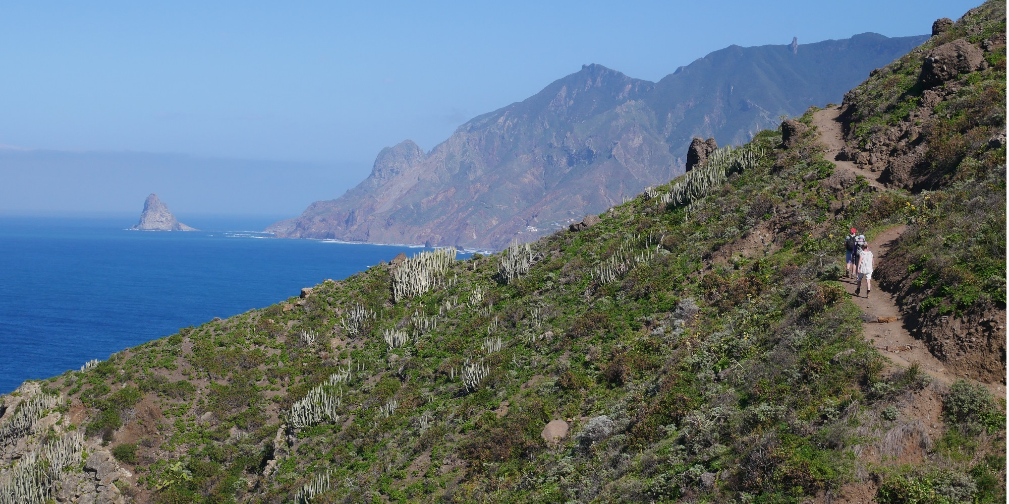 Wandern entlang der Steilküste im Anaga-Gebiet