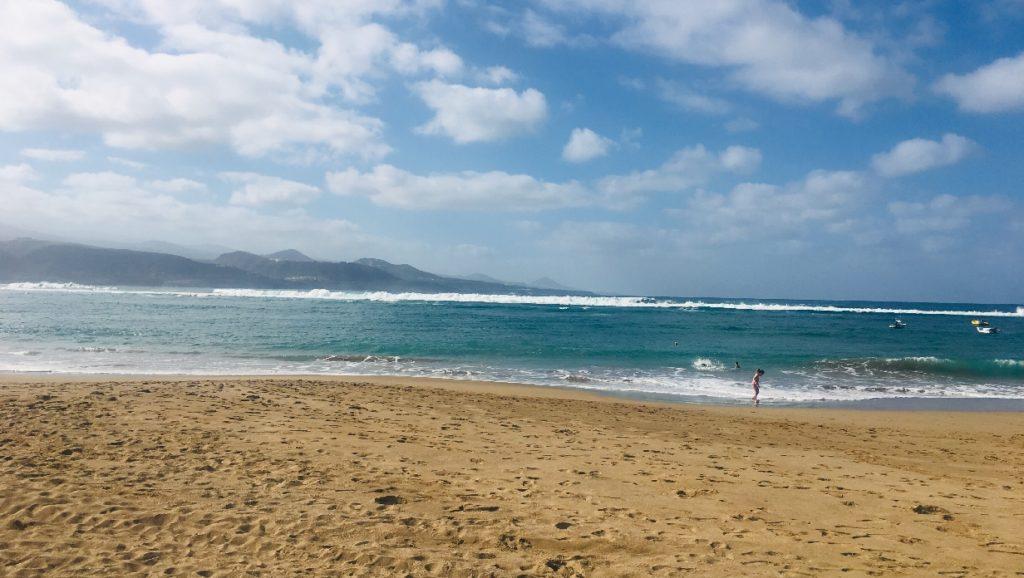 Der Strand in Las Palmas