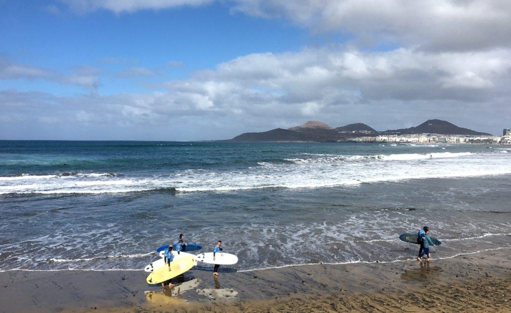 Surfen in Las Palmas de Gran Canaria