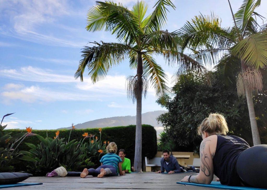 Yoga Gruppen-Unterricht auf Teneriffa