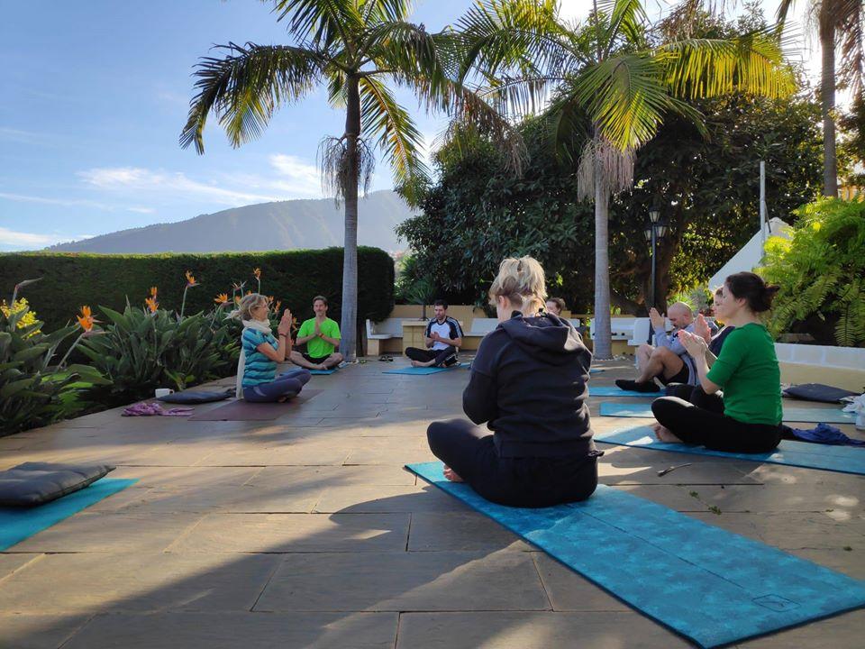 Yoga Stunde auf Teneriffa