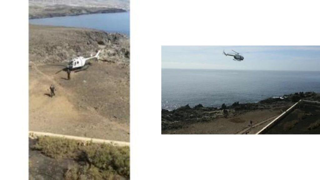 Helikopter während der Ausgangssperre auf Teneriffa