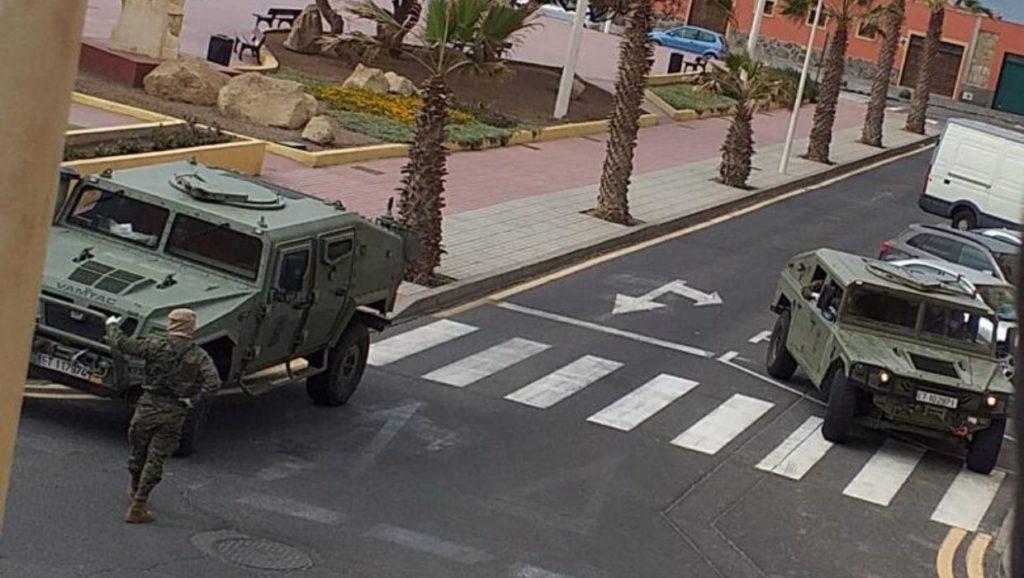 Militäreinsatz auf Teneriffa während der Ausgangssperre